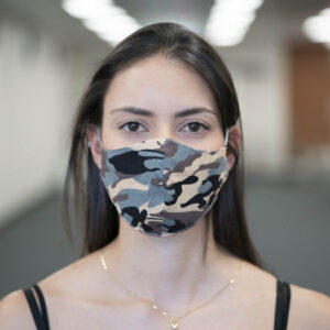 Face Mask - Camouflage - Grey