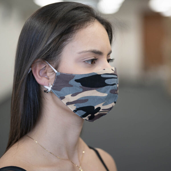 Face Mask - Camouflage - Grey
