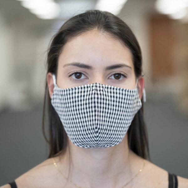 Face Mask - Gingham - Black