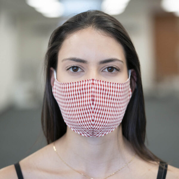 Face Mask - Gingham - Red