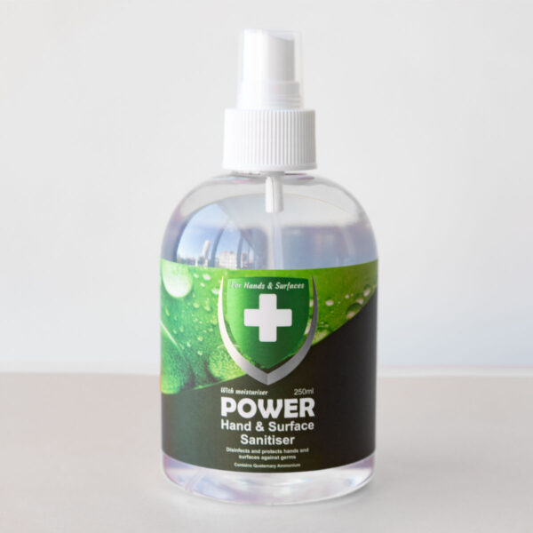 Power Hand and Surface Sanitiser 250ml