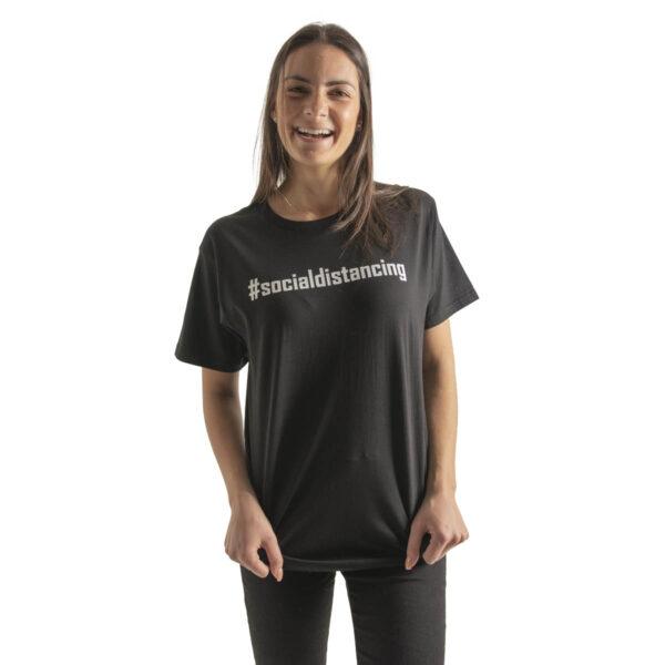 T-shirt - Black - #socialdistancing