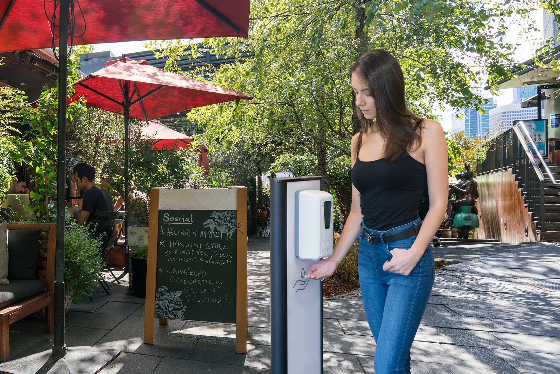 The Virus Shop - Sanitiser Dispenser Stand