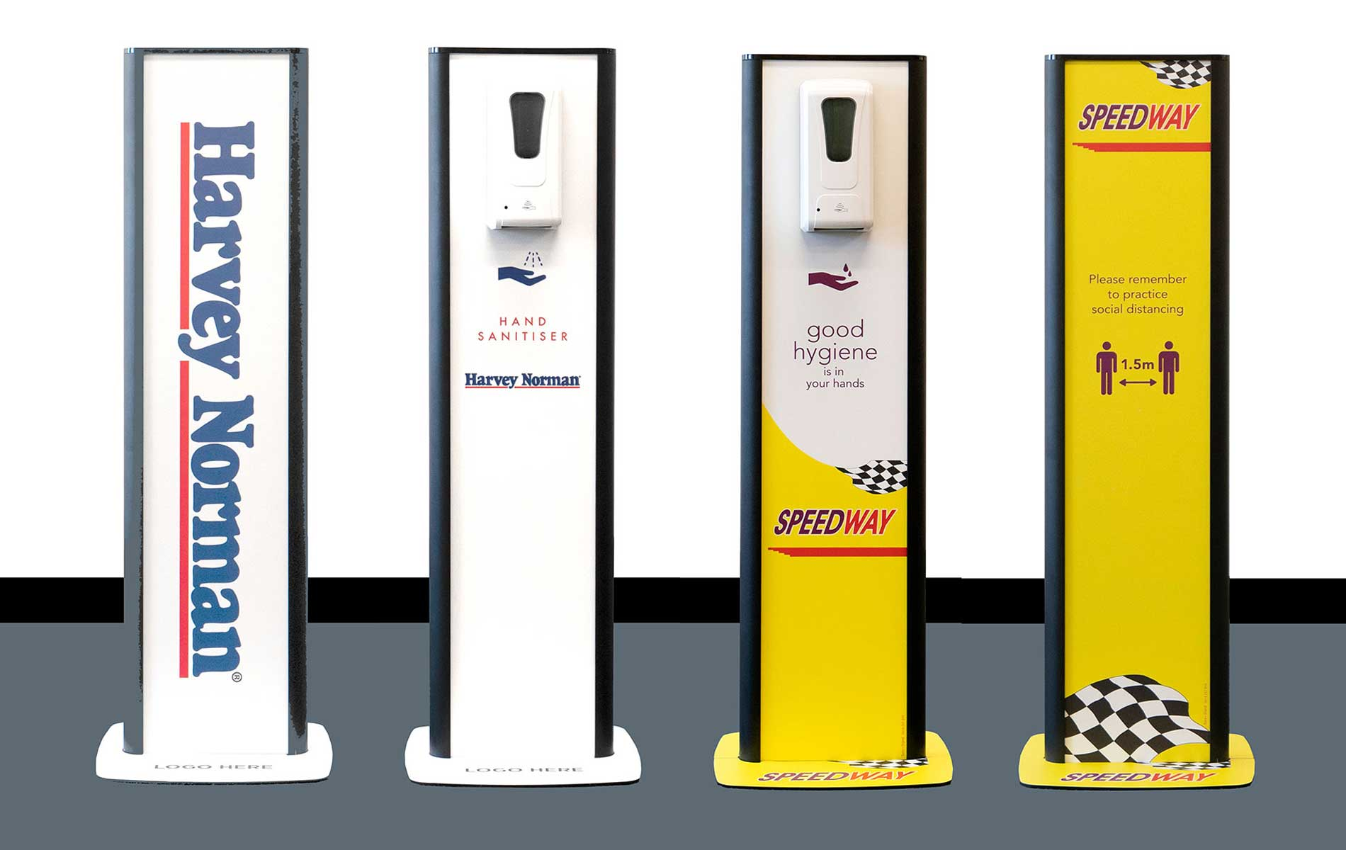 The Virus Shop Branded Sanitiser Dispenser Stands
