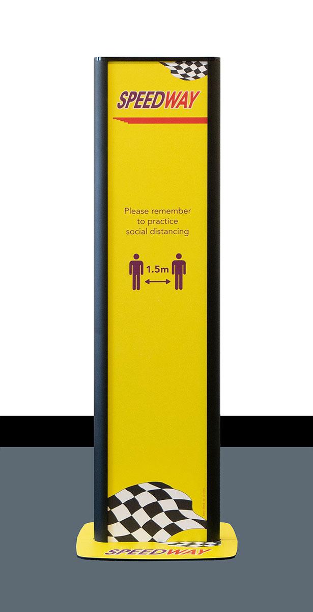The Virus Shop Branded Sanitiser Dispenser Stands